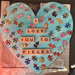Handmade Puzzle Heart